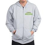 100 percent organic Zip Hoodie