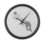 Biodiesel Bouquet Large Wall Clock
