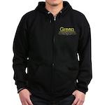Green Zip Hoodie (dark)