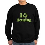I Love Reusing Sweatshirt (dark)