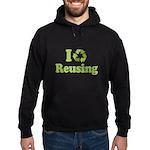 I Love Reusing Hoodie (dark)