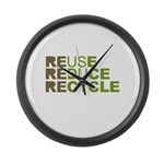 Reuse Reduce Recycle Large Wall Clock