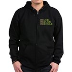 Reuse Reduce Recycle Zip Hoodie (dark)