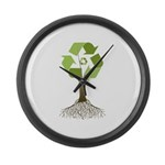 Recycling Tree Large Wall Clock