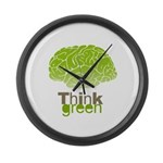 Think Green Large Wall Clock