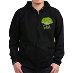 Think Green Zip Hoodie (dark)