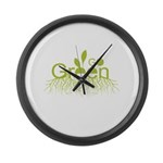 Go Green Large Wall Clock