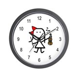 Girl &amp; Violin Wall Clock