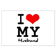 I love my husband Large Poster