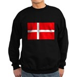 Danish / Denmark Flag Sweatshirt (dark)