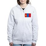 Mongolian Flag Women's Zip Hoodie
