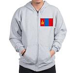 Mongolian Flag Zip Hoodie