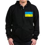 Ukranian Flag Zip Hoodie (dark)