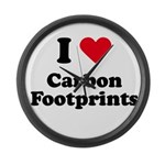 I love carbon footprints Large Wall Clock