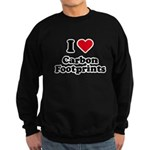 I love carbon footprints Sweatshirt (dark)