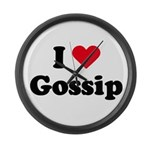 I love gossip Large Wall Clock