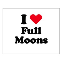 I love full moons Small Poster