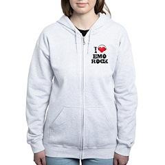 I love emo rock Women's Zip Hoodie