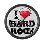 I love hard rock Large Wall Clock