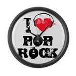 I love pop rock Large Wall Clock