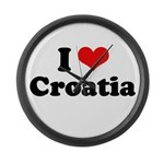 I love Croatia Large Wall Clock