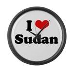 I love Sudan Large Wall Clock