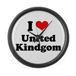 I love United Kingdom Large Wall Clock