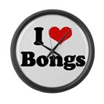 I love bongs Large Wall Clock