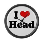 I love head Large Wall Clock