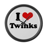 I love twinks Large Wall Clock