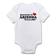 Somebody in Arizona Loves me Infant Bodysuit