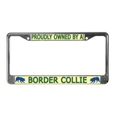 Proudly Owned Border Collie License Plate Frame