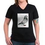 American Show Racer Women's V-Neck Dark T-Shirt