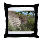 Unique Cliff dwellings Throw Pillow