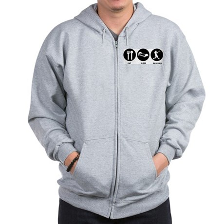 Eat Sleep Baseball Zip Hoodie