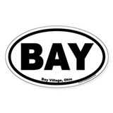 Bay Village Ohio BAY Euro Oval Decal