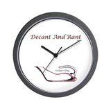 Decant and Rant Wall Clock