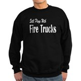 Plays with Fire Trucks Sweatshirt