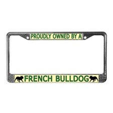 Proudly Owned French Bulldog License Plate Frame