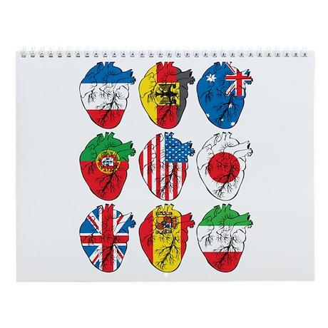 Heart Flags Wall Calendar