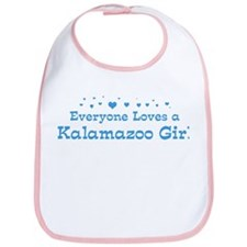 Loves Kalamazoo Girl Bib