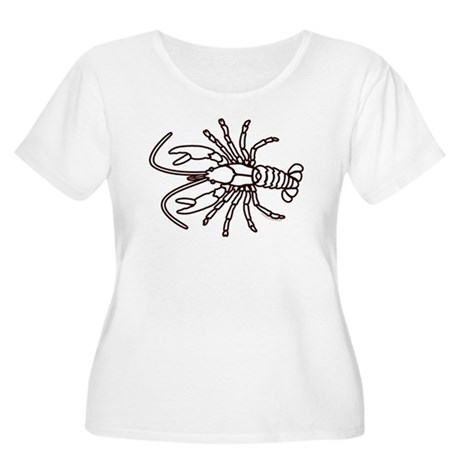 Crawfish White Women's Plus Size Scoop Neck T-Shir