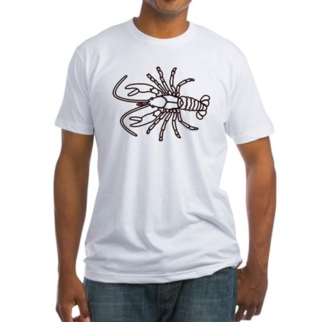 Crawfish White Fitted T-Shirt