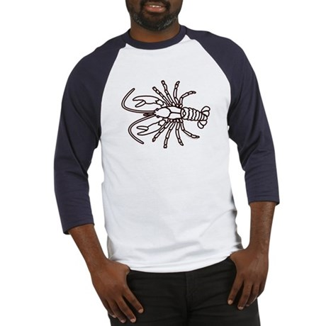 Crawfish White Baseball Jersey