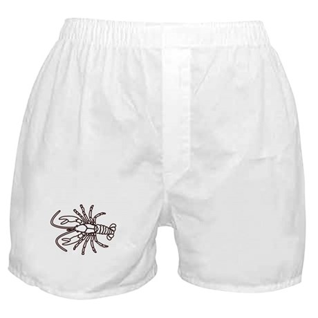 Crawfish White Boxer Shorts