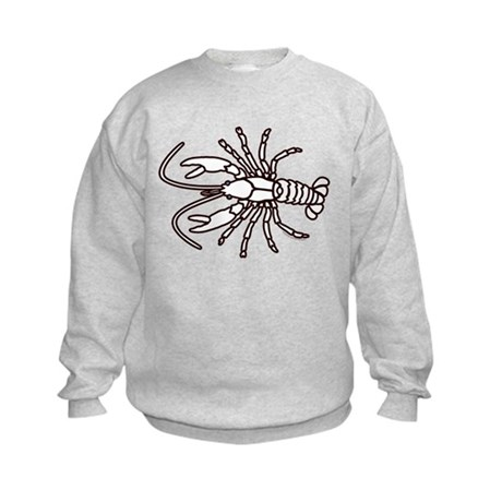 Crawfish White Kids Sweatshirt