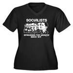 Socialists Obama Women's Plus Size V-Neck Dark T-S