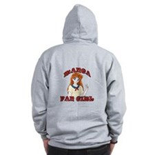 Manga Fan Girl Zip Up Hoodie