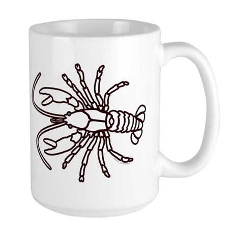 Crawfish White Large Mug