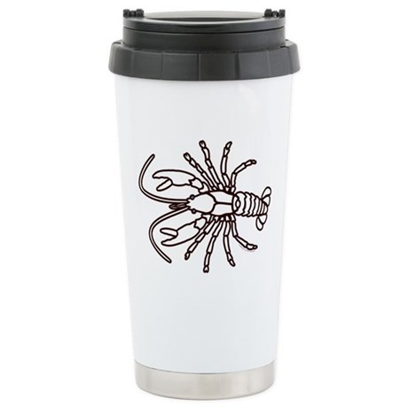 Crawfish White Ceramic Travel Mug